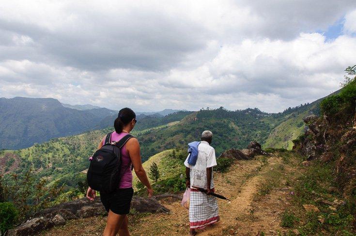 Us hiking in Ella sri Lanka