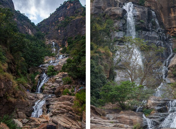 Waterfall Ella Sri Lanka