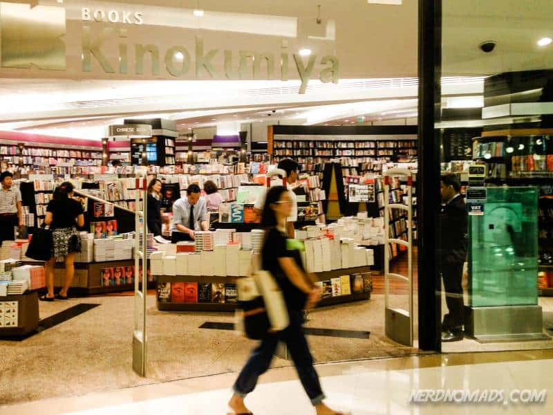 Paragon mall has Bangkok's best book shop with the biggest selection of books in English (Kinokuniya)
