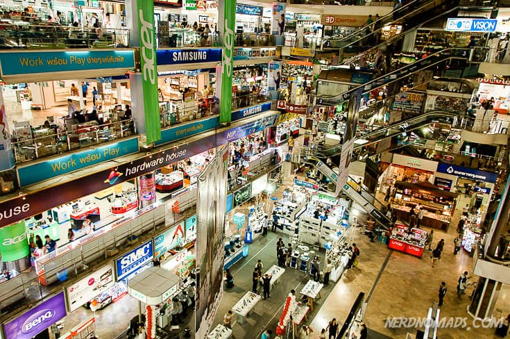 Pantip is full of electronics of all sorts, and a bit chaotic.
