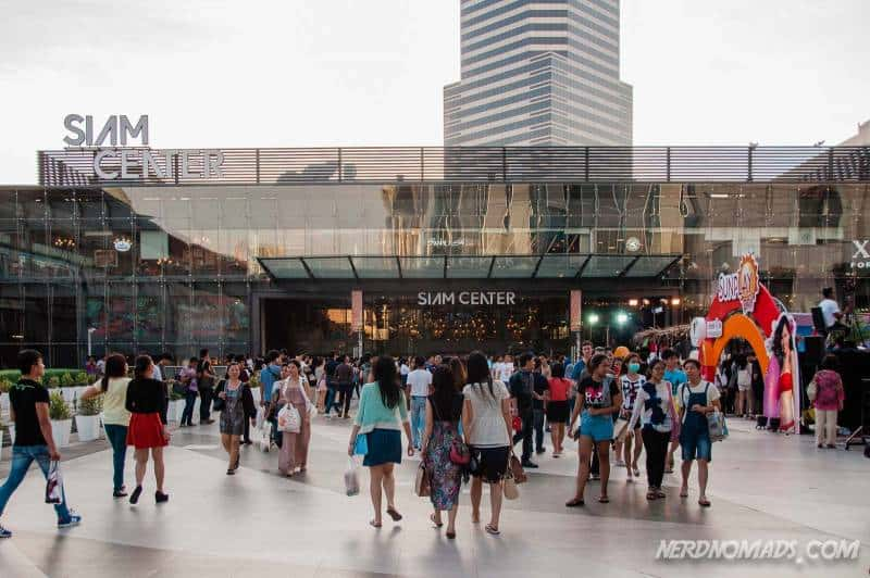 The entrance to Siam Center, walking from Paragon