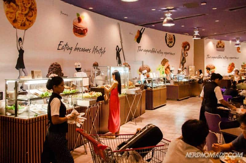 The food court Gourmet Paradise at the ground floor of Paragon