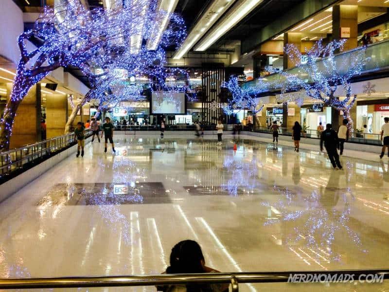 The ice skating rink, The Rink, at Central World Bangkok