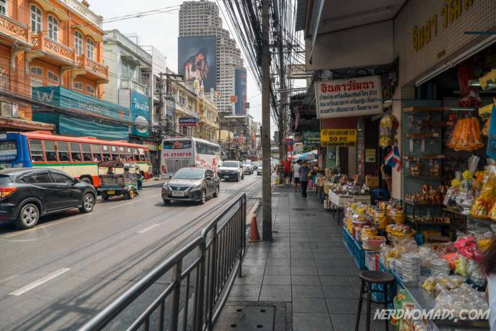 Street food at Charoen Krung Road and Silom Road