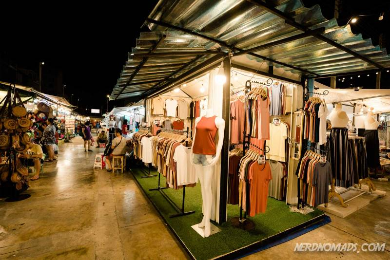 Lots of stylish clothes and shoes at Neon Market Bangkok