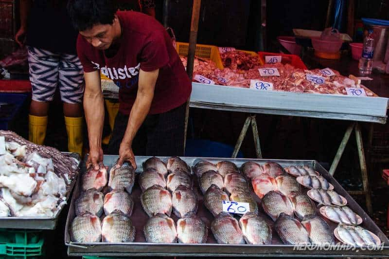 Fish at Klong Toey Market in Bangkok