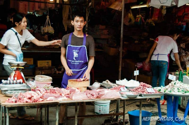 Meat of all kinds at Klong Toey Fresh Market