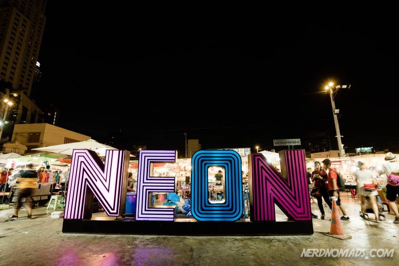 The Neon Night Market is awesome