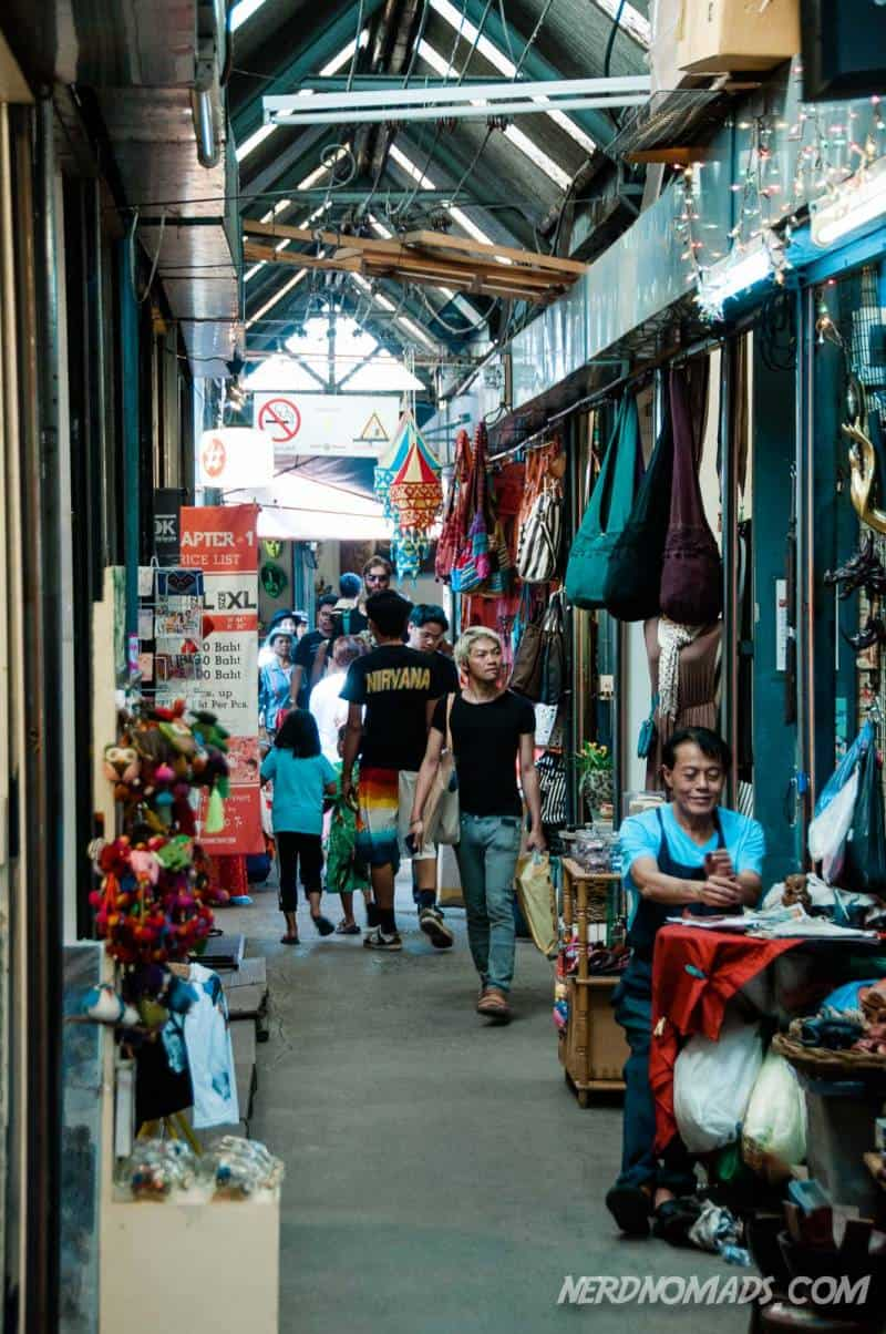 The narrow alleys at Chatuchak Market are packed with cool things to buy.