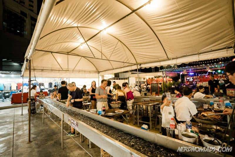 Taikong Seafood at Neon Market where you catch your own seafood and barbecue it at your table