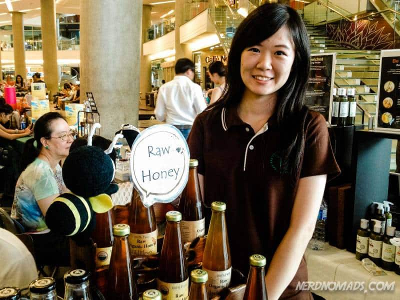 Homemade local honey at Bangkok Farmers Market