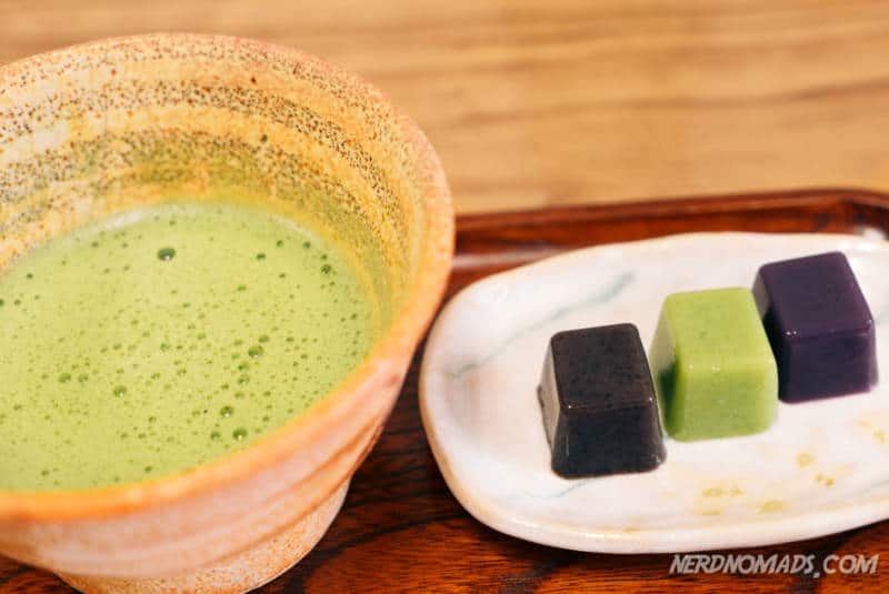 San-ten Nama Youkan and Matcha