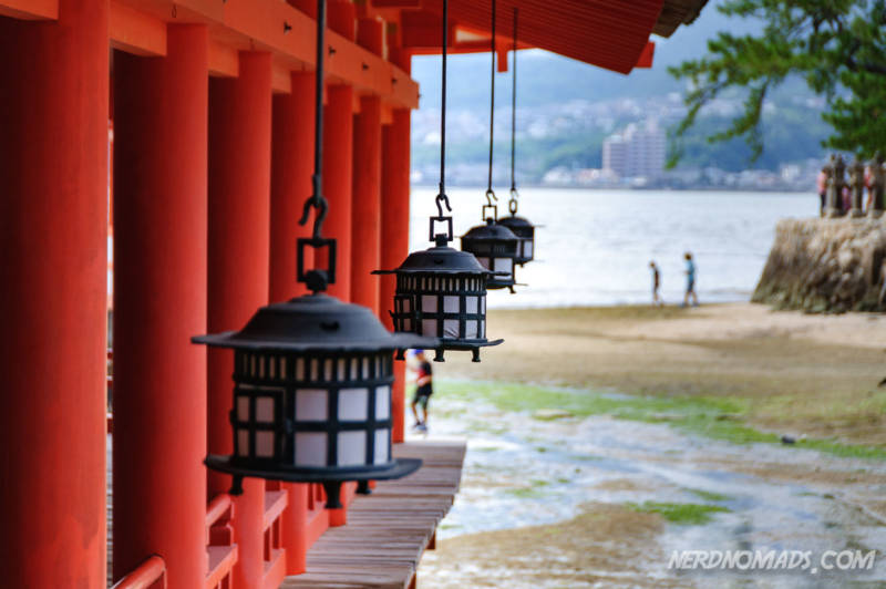 Lanterns at Itsukushima-jinja Shrine Miyajima Island