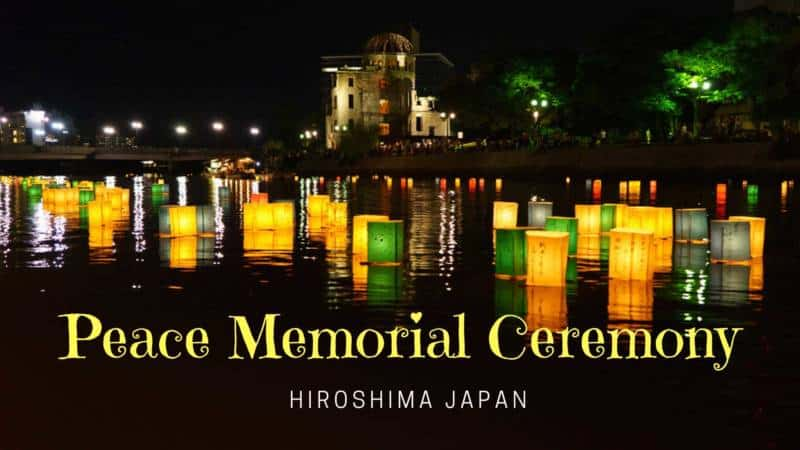 Peace Memorial Ceremony Hiroshima Japan