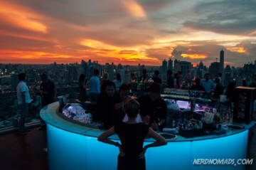 Sunset at the Bangkok Marriott sky bar