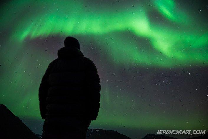 Espen enjoying the Northern Lights