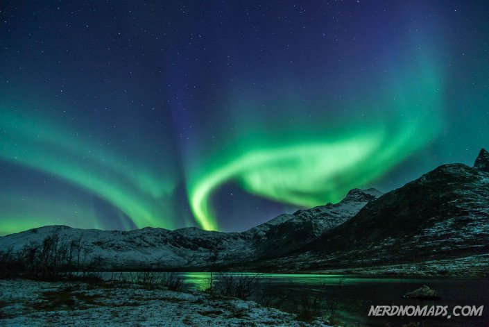 Northern Lights at Kattfjordeidet, outside of Tromso