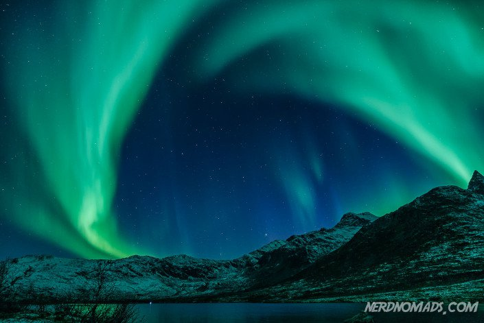 Northern Lights at Kattfjordeidet, Tromso