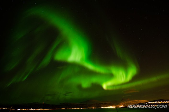 Northern Lights in Tromso city