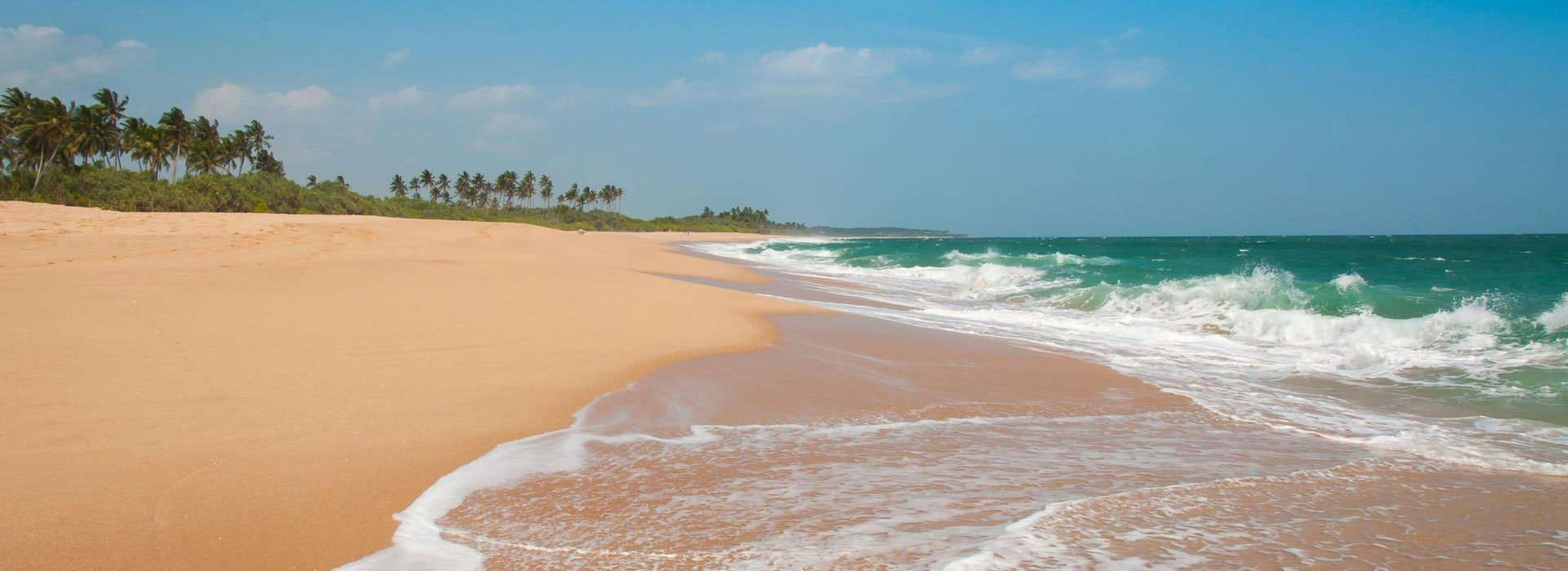 Tangalle Beach, Sri Lanka on a beautiful sunny day