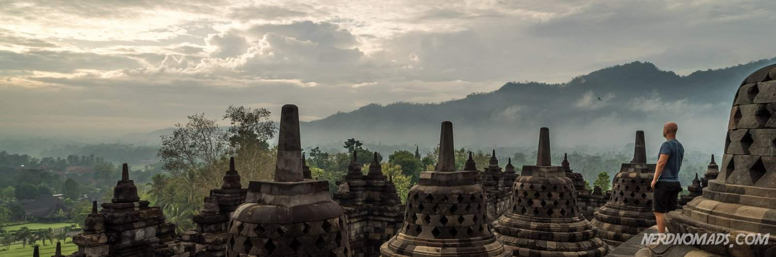 Dawn at Borobudur