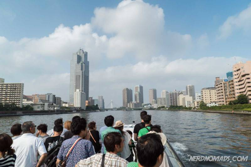 Boat trip on the Sumidagawa River Tokyo