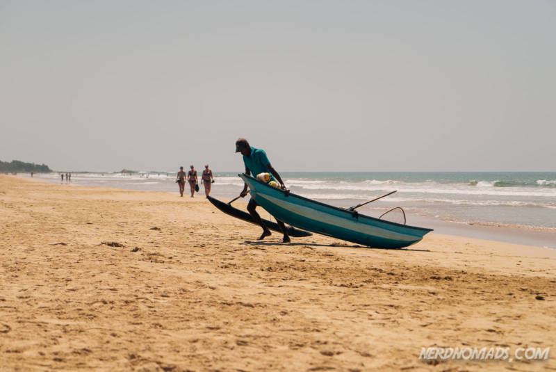 A fisherman at Bentota Beach