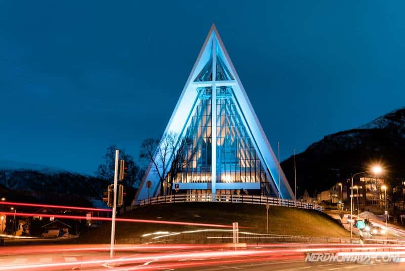 The Arctic Cathedral is a landmark in Tromso, Norway