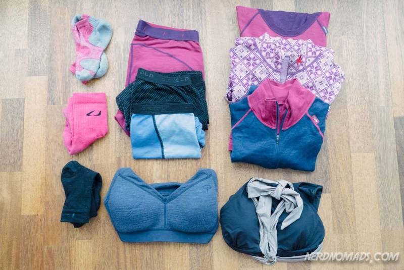 Base layer clothes to pack for a winter trip to Tromso