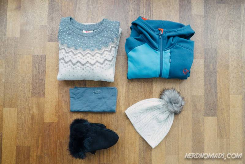 Middle layer to pack for a winter trip to Tromso