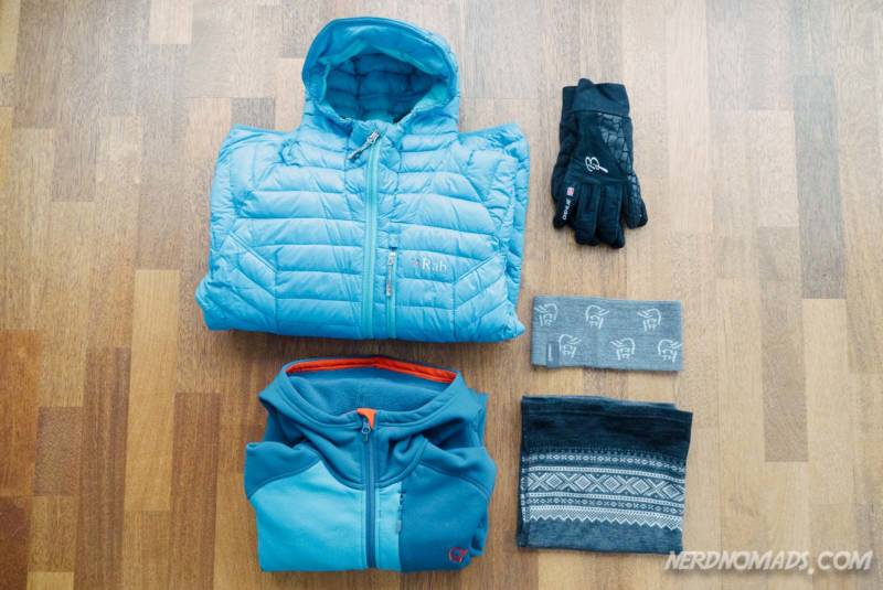 Middle layer to pack for a summer trip to Tromso
