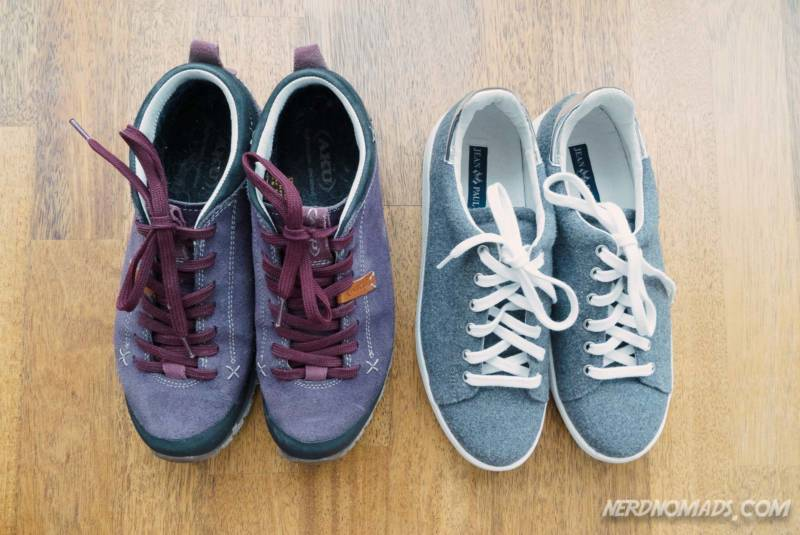Shoes to pack for a summer trip to Tromso