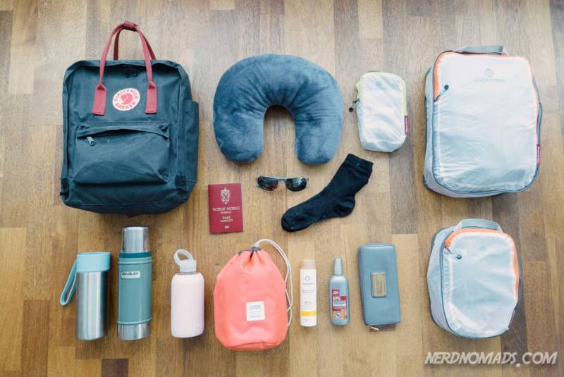 Toiletries and accessories to pack for a trip to Tromso