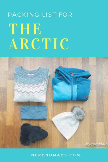 Packing list for the Arctic