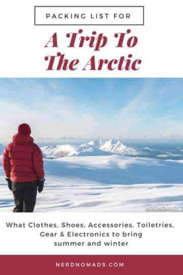 Packing list for a trip to the Arctic