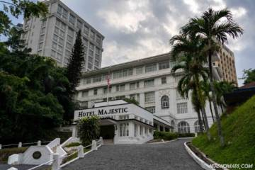 The beautiful old colonial style Majestic Hotel