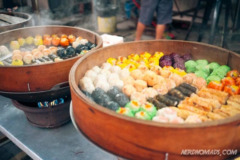 Dumplings at Jalan Alor street market KL