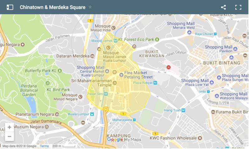 chinatown & medeka square_map