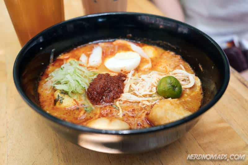 The famous Laksa at Limapulo Restaurant