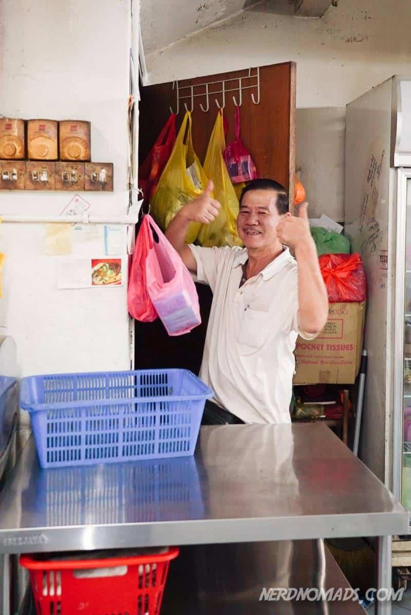 The owner of Kin Kin Restaurant in KL