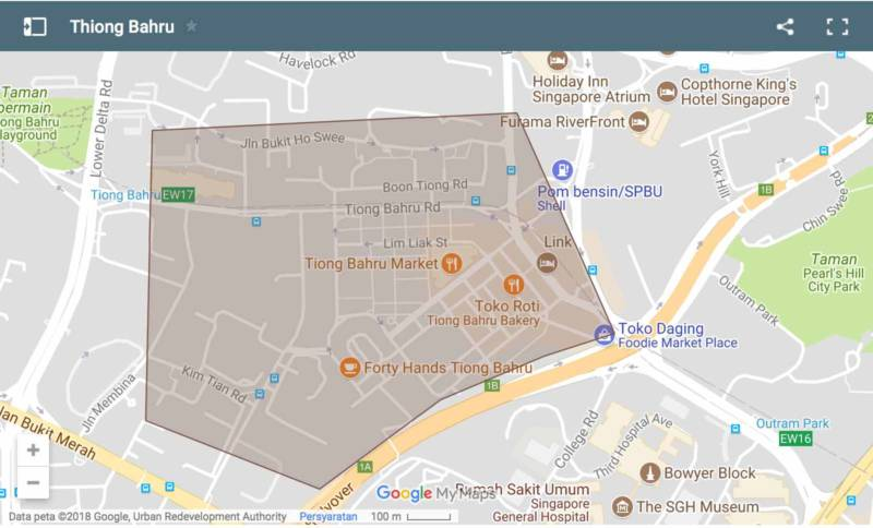 Thiong Bahru Map