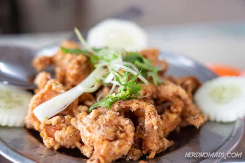 Crispy fried prawns at Sek Yuen Restaurant
