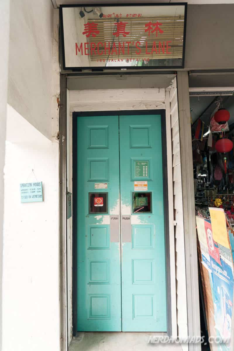 Entrance Merchants Lane Cafe KL