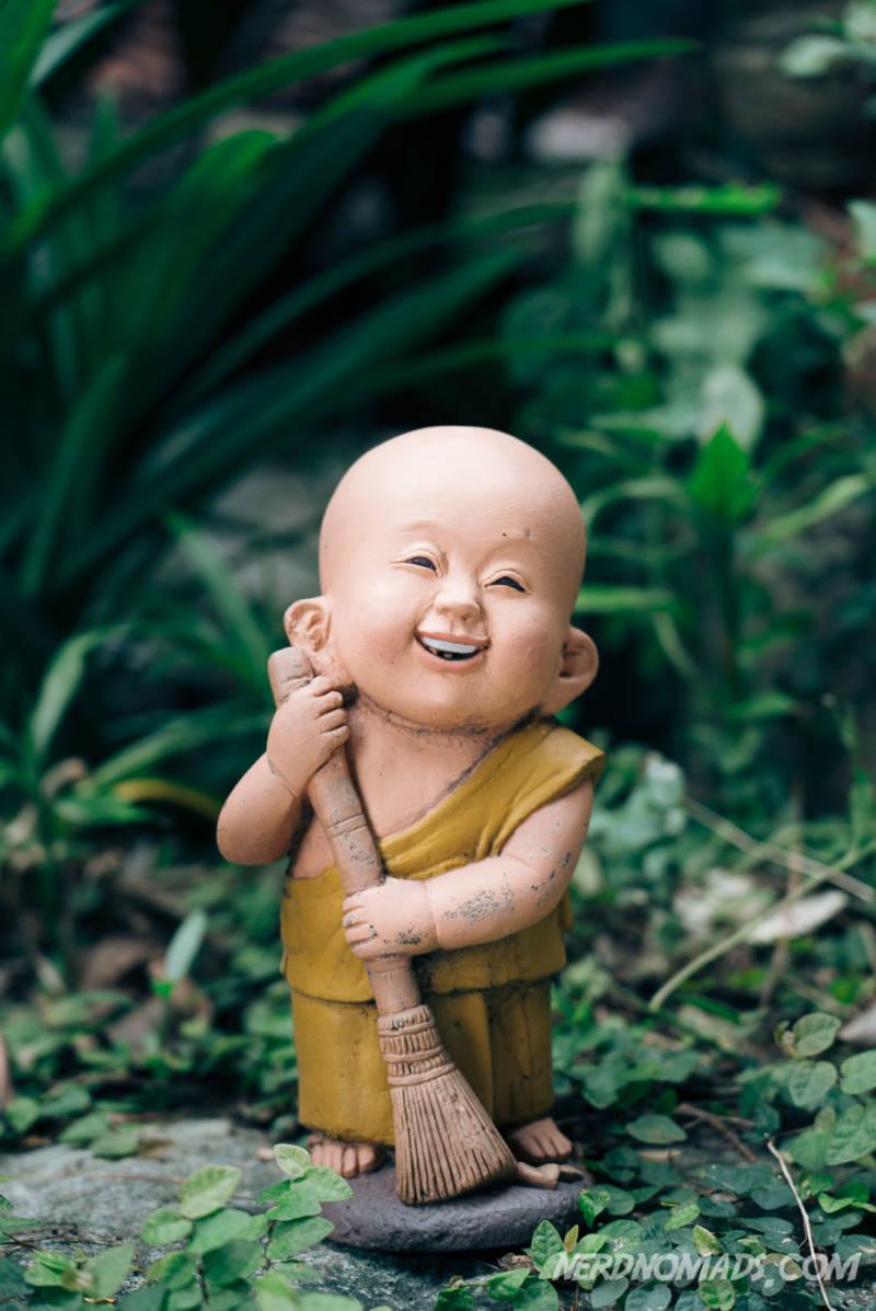 Funny statue at Golden Mount Bangkok
