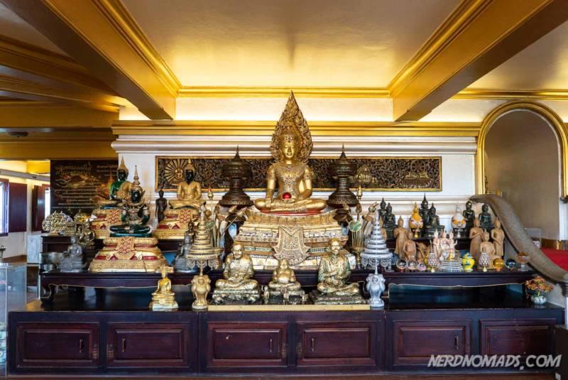 Lots of Buddhas at Golden Mount Bangkok