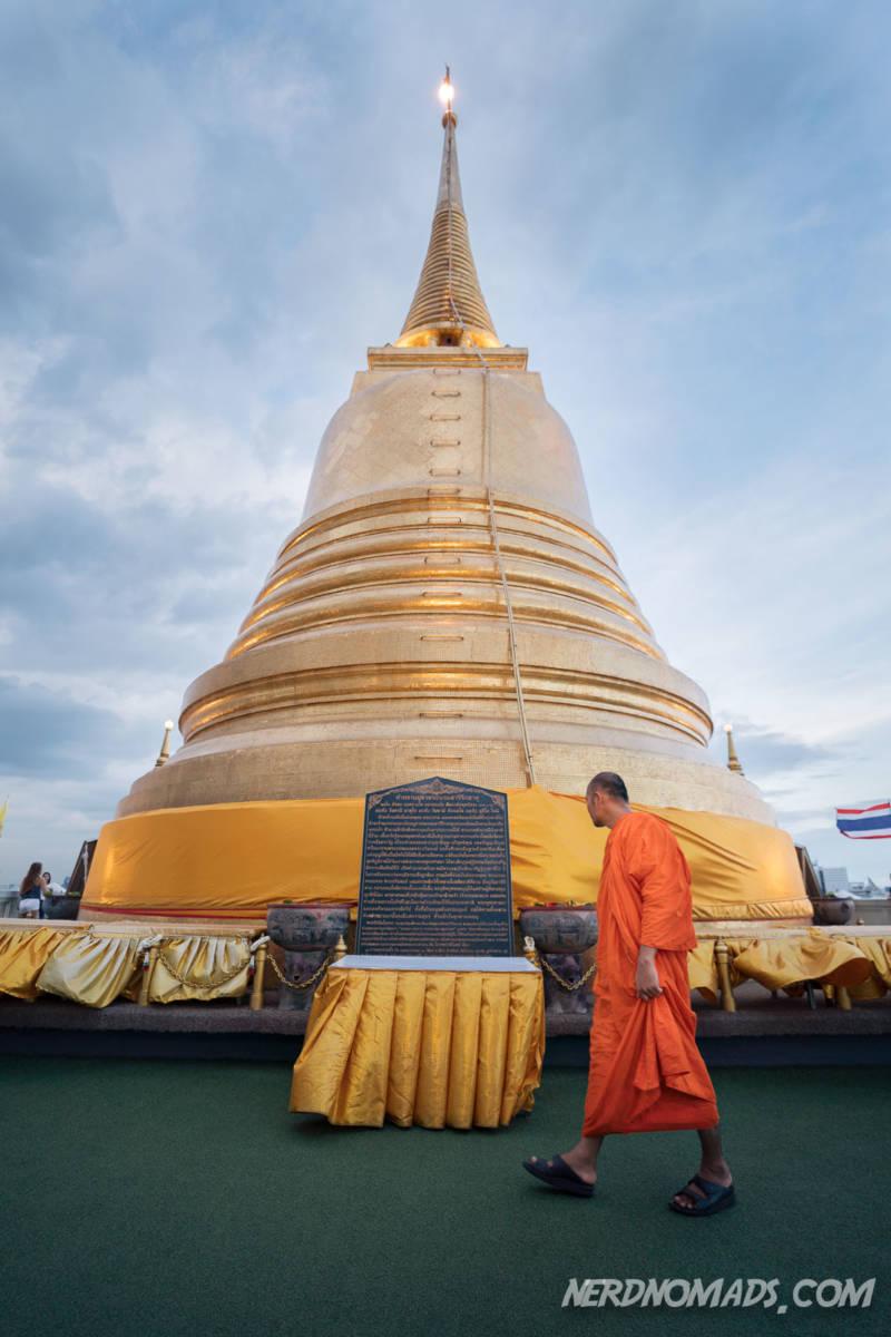 Monk at Golden Mount Bangkok