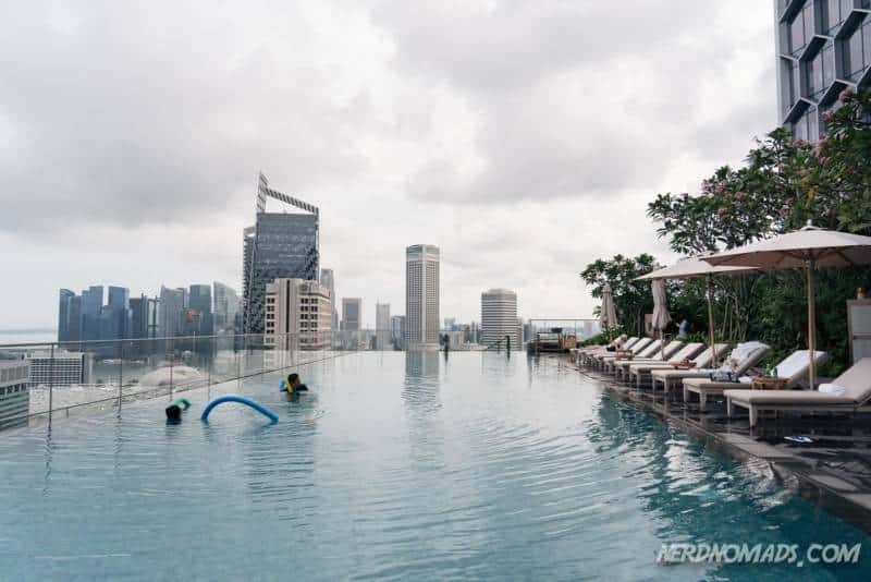 Swimming pool at the Andaz Hotel Singapore