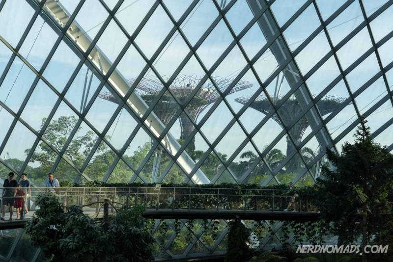 View from Cloud Forest Dome Gardens by the bay Singapore