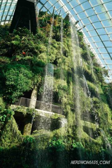 The worlds tallest indoor waterfall Gardens by the bay Singapore