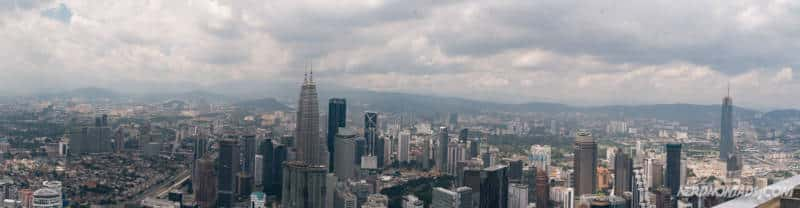 Panorama View from KL Tower